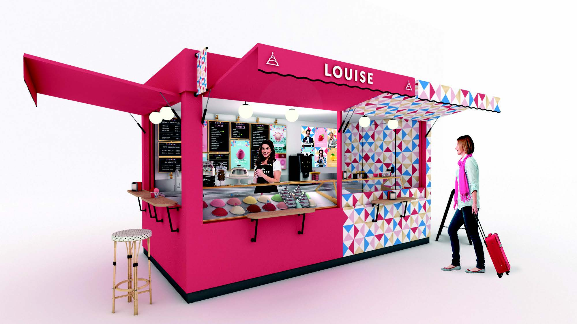 Kiosque glacier de la franchise Louise