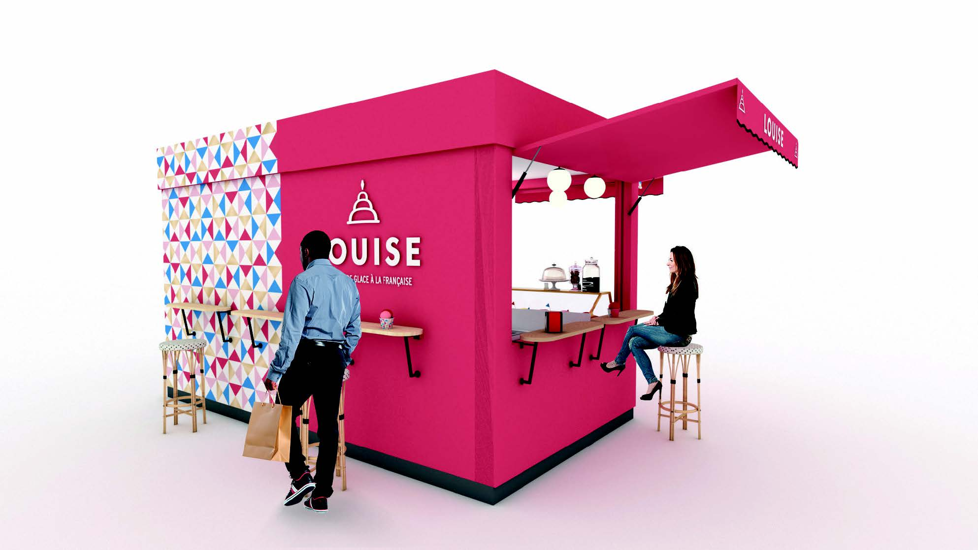 Kiosque de la franchise de glace Louise