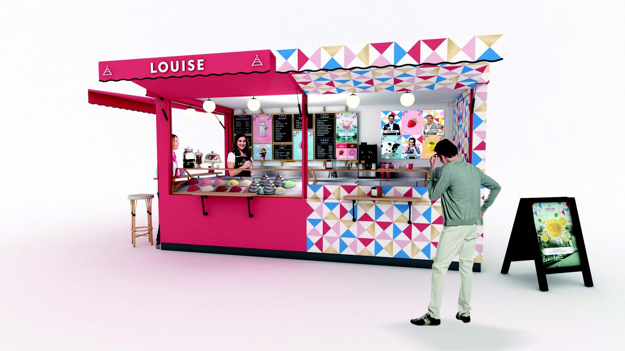 Kiosque Louise - Franchise de glacier
