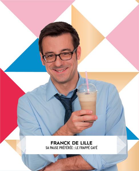 Franck avec un café frappé Louise