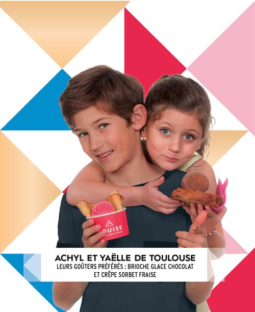 Achyl et Yaelle avec des glaces louise