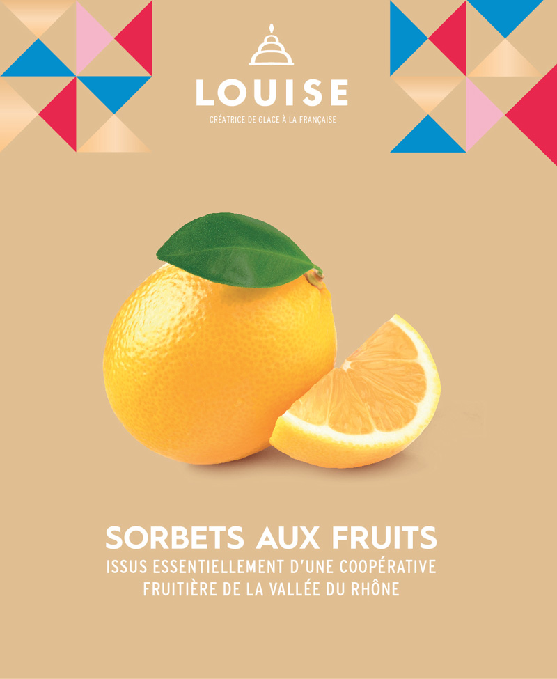 sorbet aux fruits - louise franchise glacier